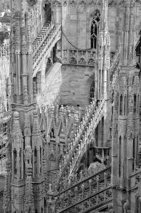 Milan Duomo up close and detailed
