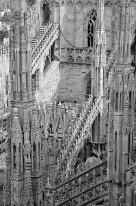 Milan Duomo up close and detailed