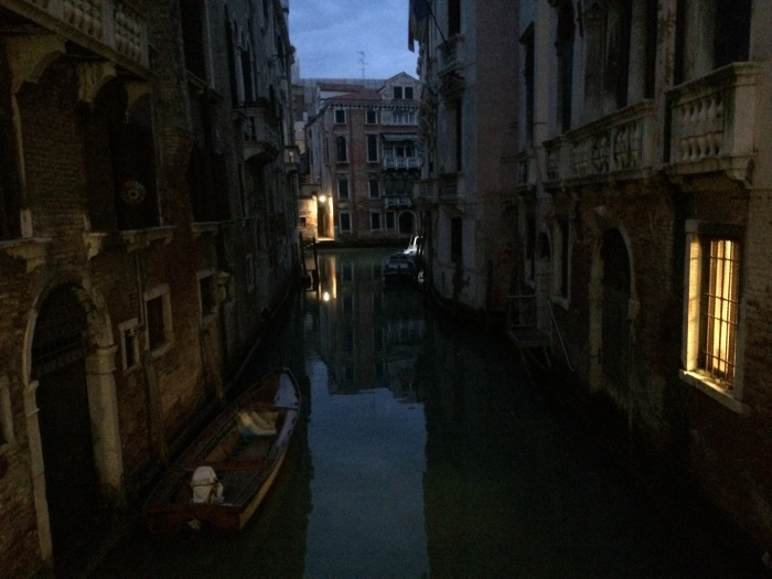 Quiet Calle, Backstreet Beauty:  Venice at Dusk